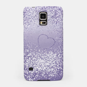 Thumbnail image of Sparkling Ultra Violet Lady Glitter Heart #1 Handyhülle für Samsung, Live Heroes