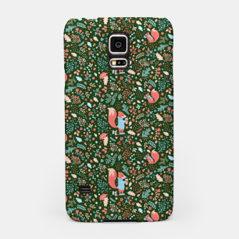 Miniaturka Cute animals in the autumn forest Samsung Case, Live Heroes