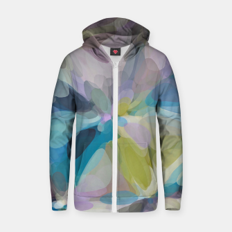 Miniatur circle pattern abstract background in blue purple yellow Zip up hoodie, Live Heroes