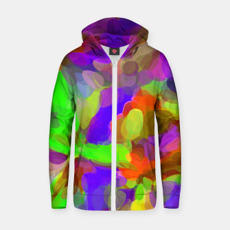 Miniatur circle pattern abstract background in pink purple green yellow red Zip up hoodie, Live Heroes
