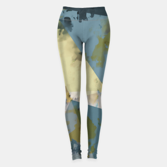 Miniature de image de psychedelic geometric triangle polygon pattern abstract in blue yellow pink Leggings, Live Heroes