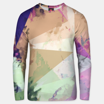 Miniature de image de psychedelic geometric triangle polygon pattern abstract in pink green brown blue Unisex sweater, Live Heroes