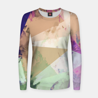 Miniature de image de psychedelic geometric triangle polygon pattern abstract in pink green brown blue Women sweater, Live Heroes