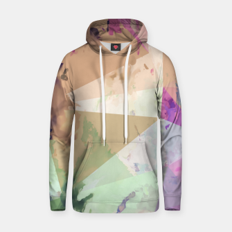Miniature de image de psychedelic geometric triangle polygon pattern abstract in pink green brown blue Hoodie, Live Heroes