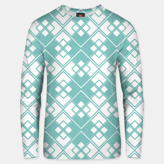 Miniature de image de Abstract geometric pattern - blue and white. Unisex sweater, Live Heroes