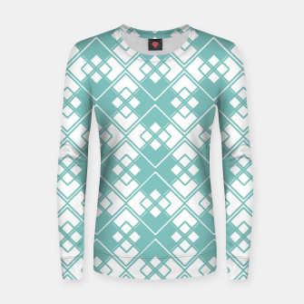 Miniature de image de Abstract geometric pattern - blue and white. Women sweater, Live Heroes