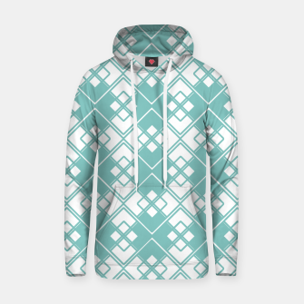 Miniature de image de Abstract geometric pattern - blue and white. Hoodie, Live Heroes