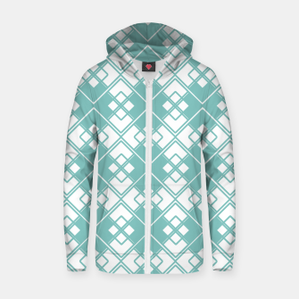 Miniature de image de Abstract geometric pattern - blue and white. Zip up hoodie, Live Heroes