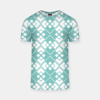 Miniature de image de Abstract geometric pattern - blue and white. T-shirt, Live Heroes