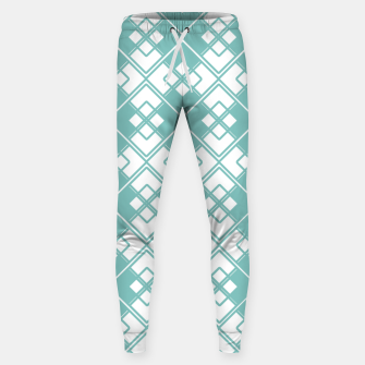 Miniature de image de Abstract geometric pattern - blue and white. Sweatpants, Live Heroes