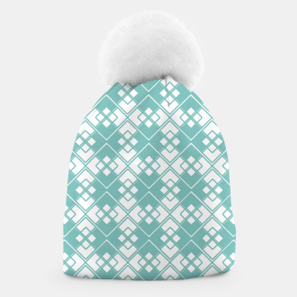 Miniature de image de Abstract geometric pattern - blue and white. Beanie, Live Heroes