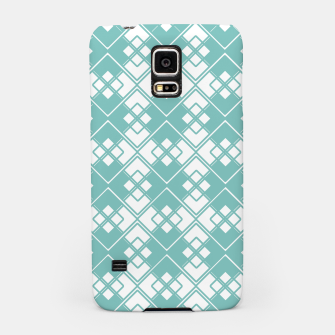 Miniature de image de Abstract geometric pattern - blue and white. Samsung Case, Live Heroes
