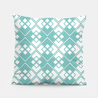 Miniature de image de Abstract geometric pattern - blue and white. Pillow, Live Heroes