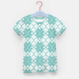 Miniature de image de Abstract geometric pattern - blue and white. Kid's t-shirt, Live Heroes