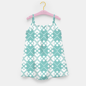 Miniature de image de Abstract geometric pattern - blue and white. Girl's dress, Live Heroes