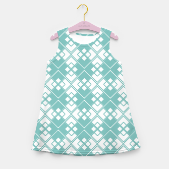 Miniature de image de Abstract geometric pattern - blue and white. Girl's summer dress, Live Heroes