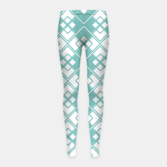 Miniature de image de Abstract geometric pattern - blue and white. Girl's leggings, Live Heroes