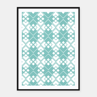 Miniature de image de Abstract geometric pattern - blue and white. Framed poster, Live Heroes
