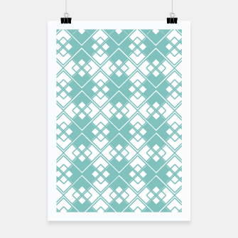 Miniature de image de Abstract geometric pattern - blue and white. Poster, Live Heroes