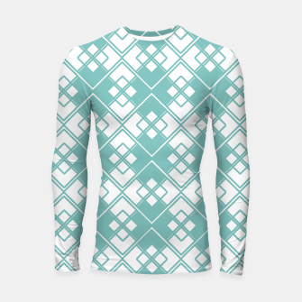 Miniature de image de Abstract geometric pattern - blue and white. Longsleeve rashguard , Live Heroes