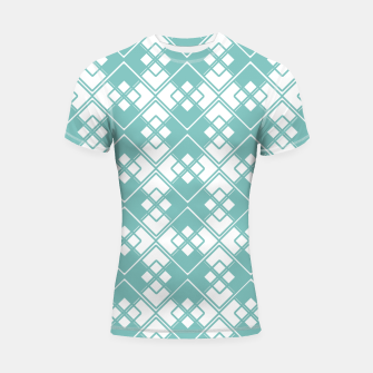 Miniature de image de Abstract geometric pattern - blue and white. Shortsleeve rashguard, Live Heroes