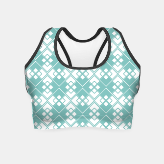 Miniature de image de Abstract geometric pattern - blue and white. Crop Top, Live Heroes