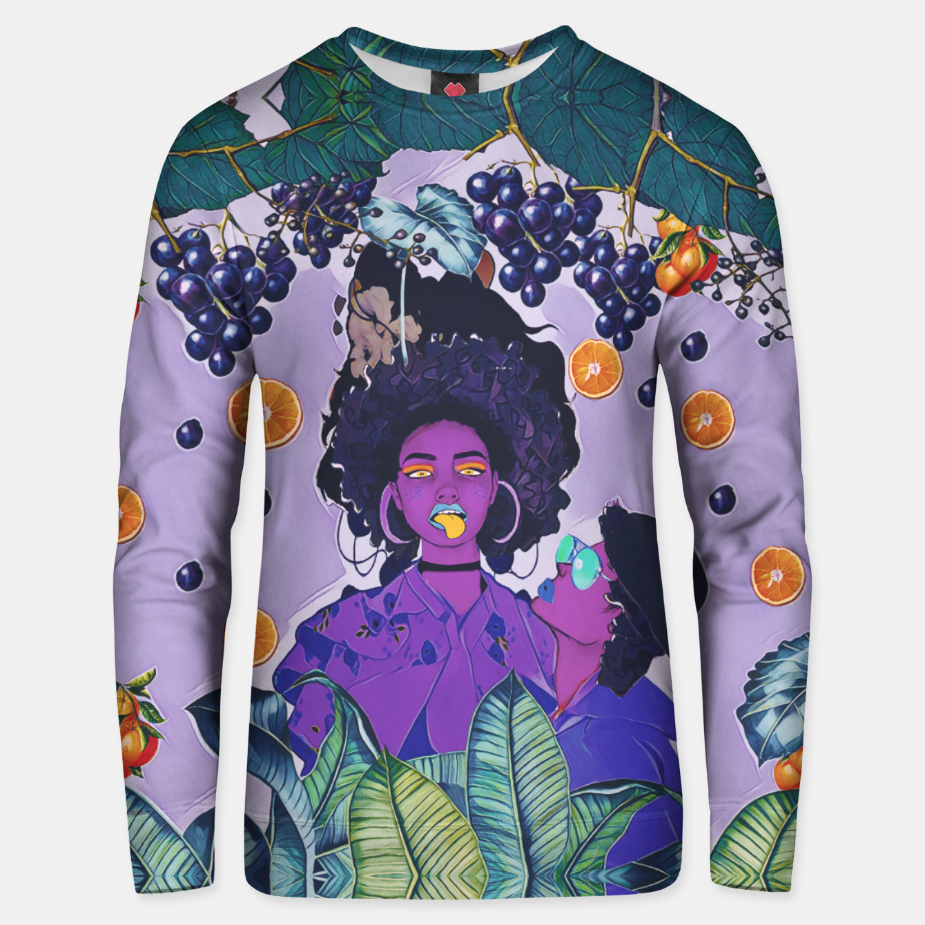 Image of Purple kiss Unisex sweater - Live Heroes