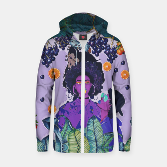 Purple kiss Zip up hoodie thumbnail image