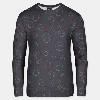 Miniaturka Red Blue and Dark Blue Overlaying Circles on Grey Unisex sweater, Live Heroes