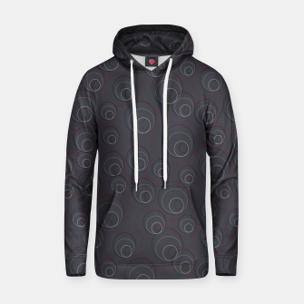 Miniaturka Red Blue and Dark Blue Overlaying Circles on Grey Hoodie, Live Heroes