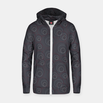 Miniaturka Red Blue and Dark Blue Overlaying Circles on Grey Zip up hoodie, Live Heroes