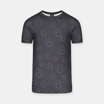 Miniaturka Red Blue and Dark Blue Overlaying Circles on Grey T-shirt, Live Heroes