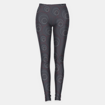 Miniaturka Red Blue and Dark Blue Overlaying Circles on Grey Leggings, Live Heroes