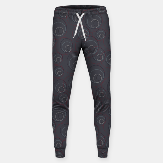 Miniaturka Red Blue and Dark Blue Overlaying Circles on Grey Sweatpants, Live Heroes