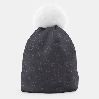 Miniaturka Red Blue and Dark Blue Overlaying Circles on Grey Beanie, Live Heroes