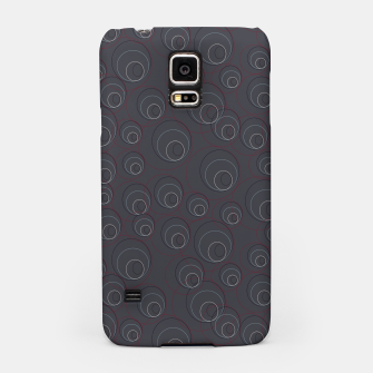 Thumbnail image of Red Blue and Dark Blue Overlaying Circles on Grey Samsung Case, Live Heroes