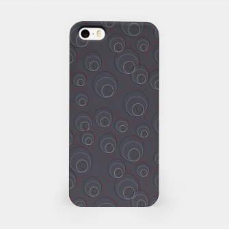 Thumbnail image of Red Blue and Dark Blue Overlaying Circles on Grey iPhone Case, Live Heroes