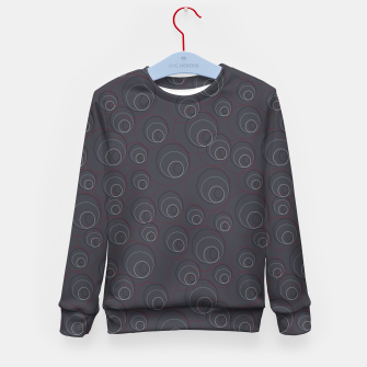 Thumbnail image of Red Blue and Dark Blue Overlaying Circles on Grey Kid's sweater, Live Heroes