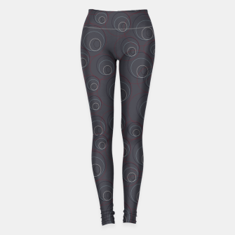 Thumbnail image of Red Blue and Dark Blue Overlaying Circles on Grey Leggings, Live Heroes