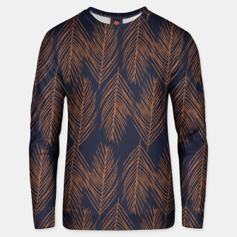Thumbnail image of Rust Branches on Dark Blue Unisex sweater, Live Heroes