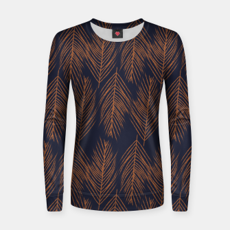 Thumbnail image of Rust Branches on Dark Blue Women sweater, Live Heroes