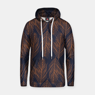 Thumbnail image of Rust Branches on Dark Blue Hoodie, Live Heroes