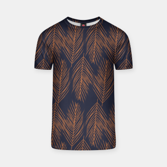 Thumbnail image of Rust Branches on Dark Blue T-shirt, Live Heroes