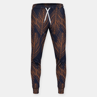 Thumbnail image of Rust Branches on Dark Blue Sweatpants, Live Heroes