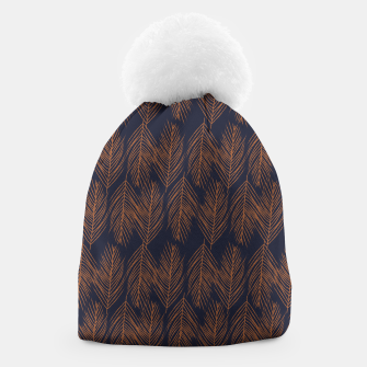 Thumbnail image of Rust Branches on Dark Blue Beanie, Live Heroes