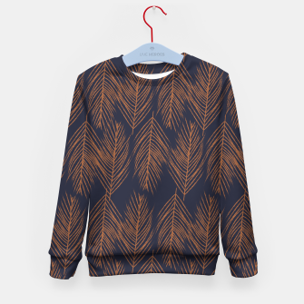 Thumbnail image of Rust Branches on Dark Blue Kid's sweater, Live Heroes