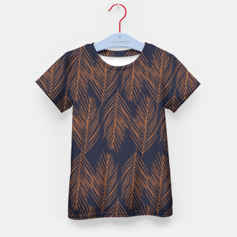 Thumbnail image of Rust Branches on Dark Blue Kid's t-shirt, Live Heroes