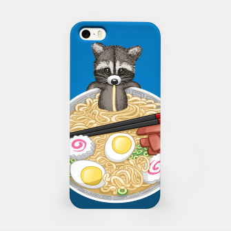 Raccoon ramen Carcasa por Iphone miniature