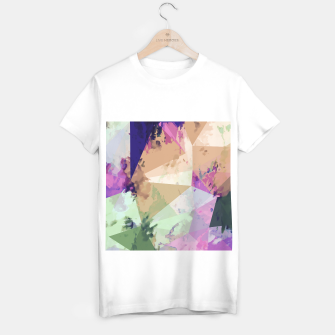 Miniature de image de psychedelic geometric triangle polygon pattern abstract in pink green brown blue T-shirt regular, Live Heroes