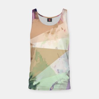 Miniature de image de psychedelic geometric triangle polygon pattern abstract in pink green brown blue Tank Top, Live Heroes